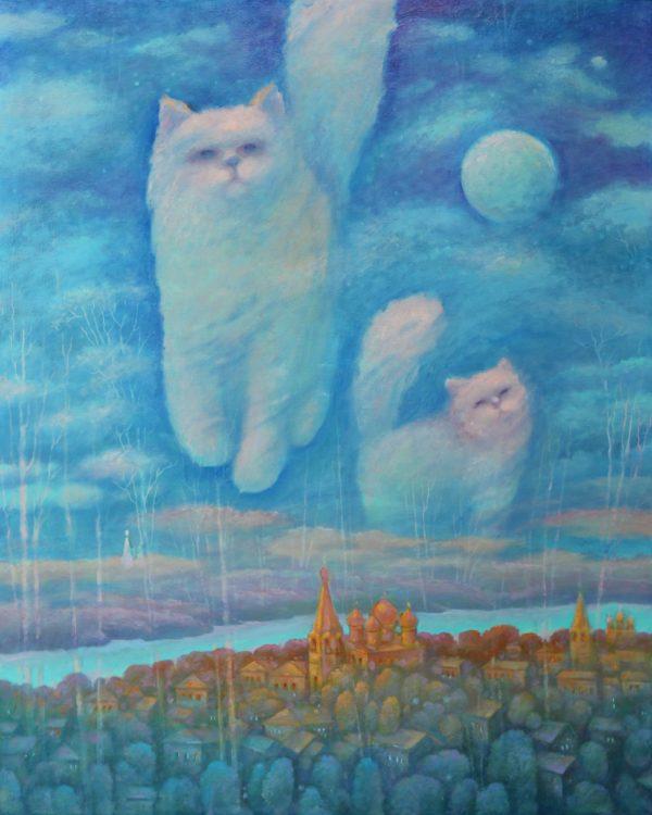 Два кота под луной