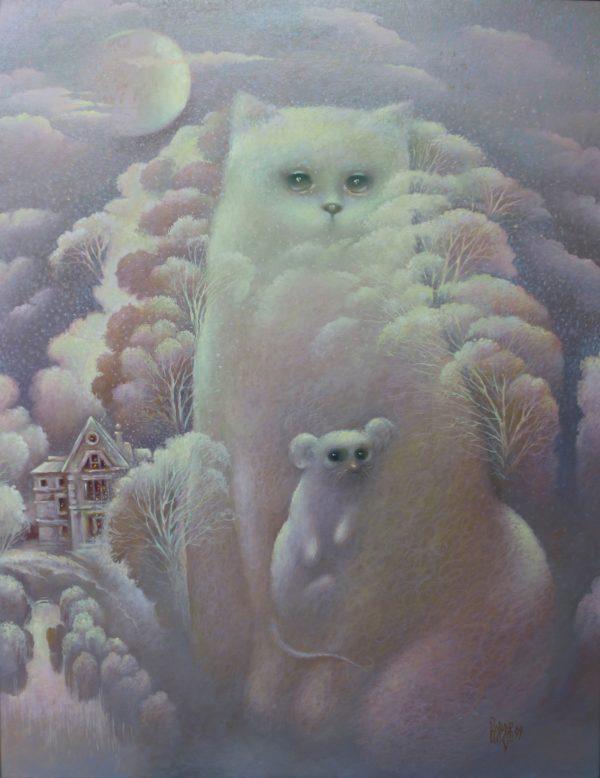 Кот и мышь - добрая картина