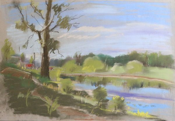 Картина с прудом в Ляисенках