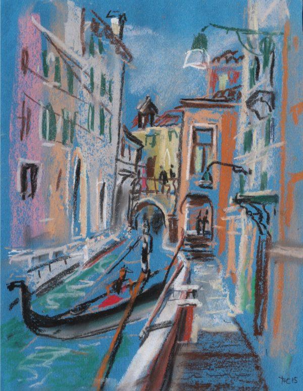 Картина пастелью. Венеция