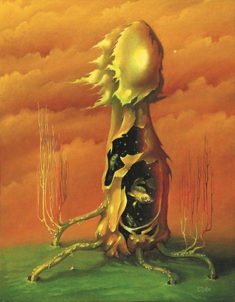 Одна из первых картин в серии грибной сезон