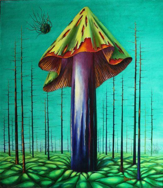 Фантастические грибы маслом