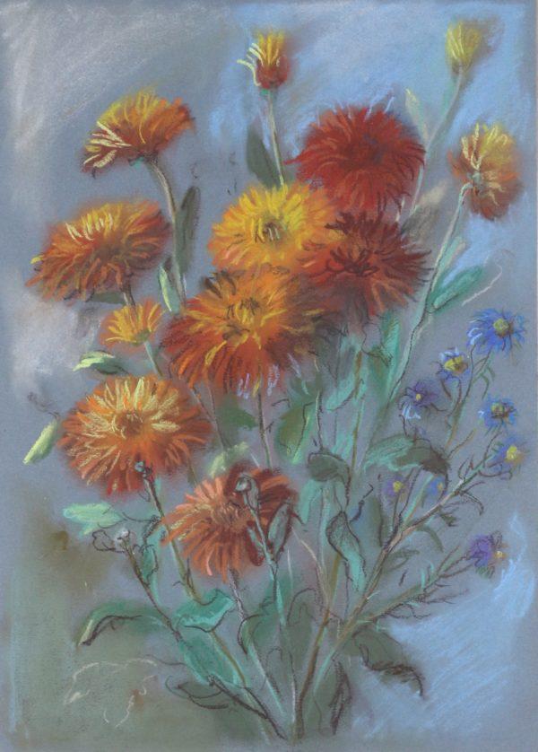 Пастельные цветы