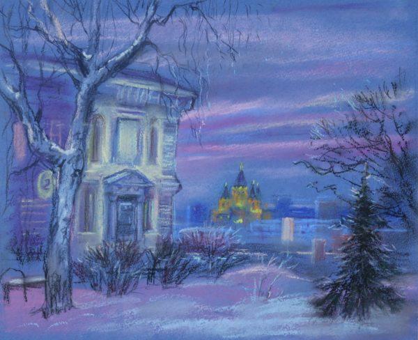 Вид на вечерний Нижний Новгород