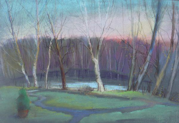 Картина с маленьким озером