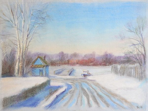 Зимний пейзаж в Гороховце