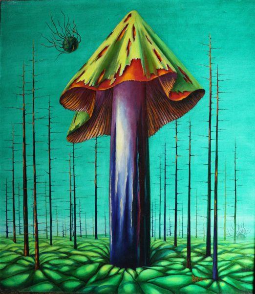 Фантастическая картина с грибом