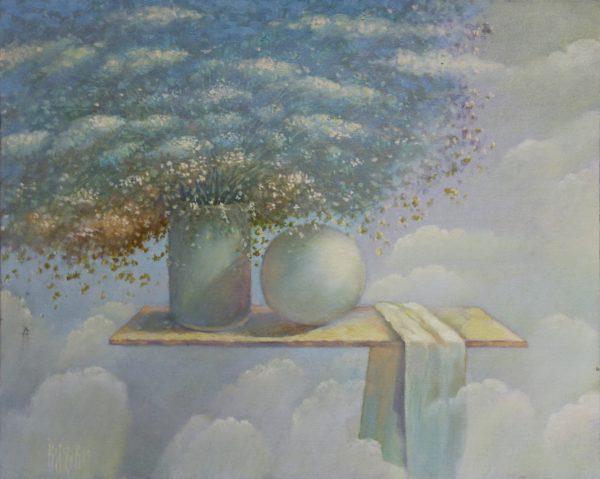 Парящий натюрморт с шаром