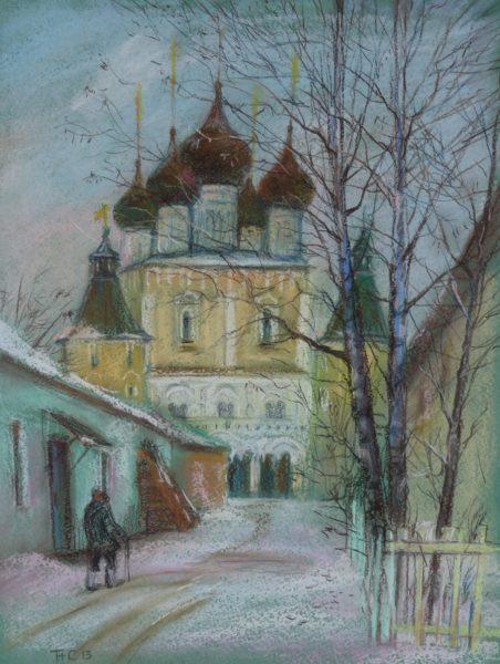 Собор зимой