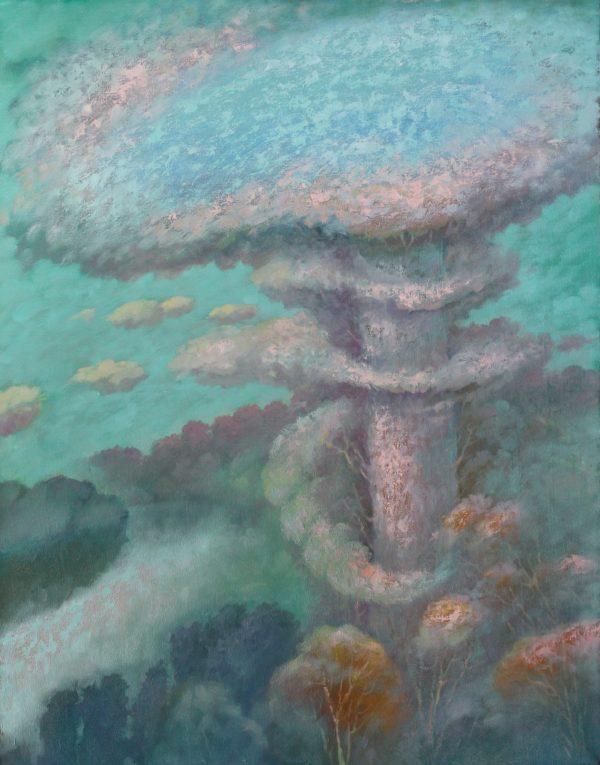 Гриб с озером на шляпке