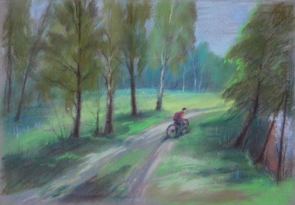 Пастельная картина с сюжетом