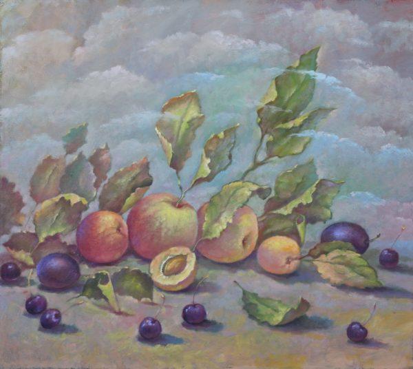 Яблоки, персики и сливы