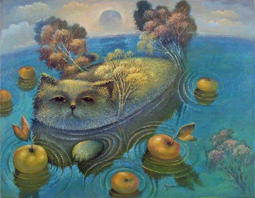 Яблочный кот. Фантазия
